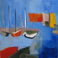 Barcos y lanchas 70x70 (vendu)